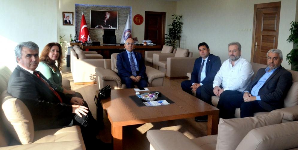 Çanakkale Türk Eğitim- Sen'den ÇOMÜ Rektörü Prof. Dr. Sedat Murat'a Ziyaret