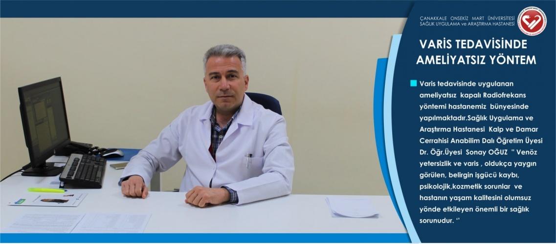 ÇOMÜ Hastanesinde Varis Tedavisinde Ameliyatsız Yöntem