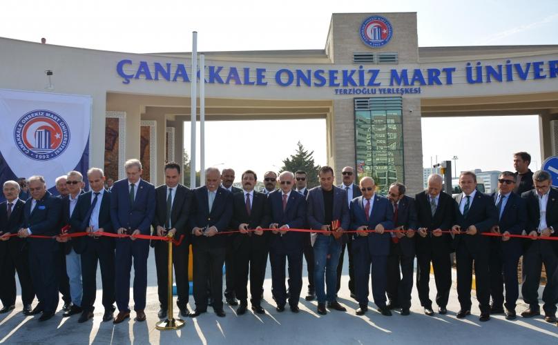 ÇOMÜ'nün Ana Giriş Kapısı Törenle Hizmete Açıldı
