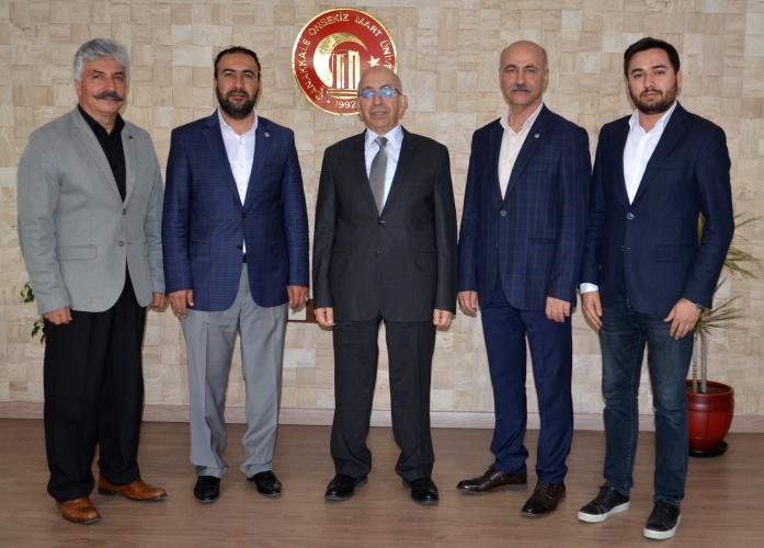Eğitim Bir-Sen Yönetiminden Rektör Prof. Dr. Sedat Murat'a Ziyaret
