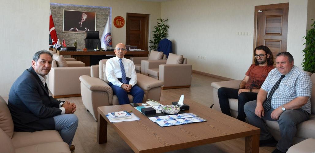 Eğitim- İş  Çanakkale Şubesinden Rektör Prof. Dr. Sedat Murat'a Ziyaret