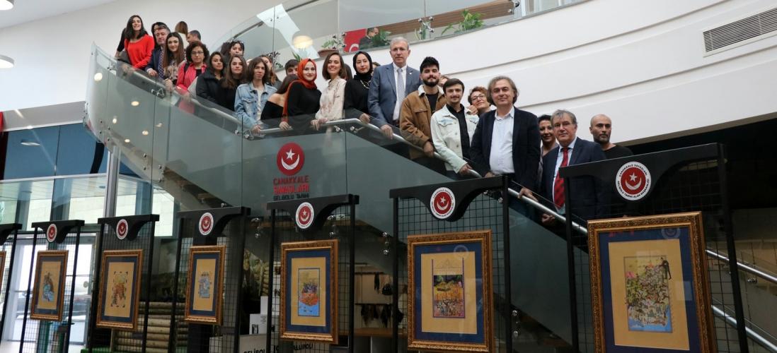 """""""Gazavatnameler Işığında Türk Minyatür Sanatı ile Anafartalar Zaferi"""" Sergisi Açıldı"""