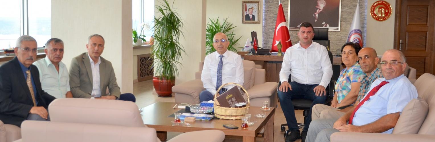 Gökçeada Belediye Başkanı'ndan Rektör Prof. Dr. Sedat Murat'a Ziyaret