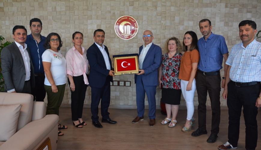 Hak-İş Sendikası'ndan Rektör Prof. Dr. Sedat Murat'a Ziyaret