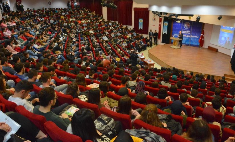 Kamu Başdenetçisi Şeref Malkoç; Adalet, Ombudsmanlık ve Üniversiteler Konulu Konferans İçin ÇOMÜ'deydi