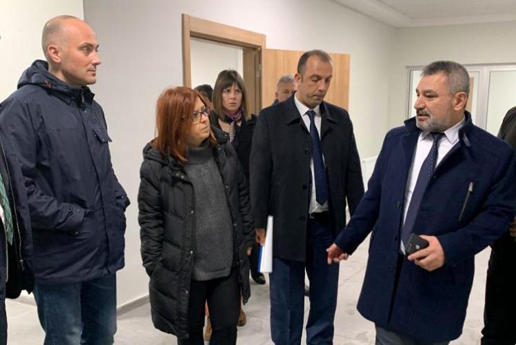 Rektör Prof. Dr. Yücel Acer, Biga UBF İnşaatında İncelemelerde Bulundu