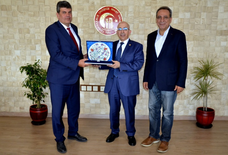 Trakya Üniversitesi Rektör Yardımcısı'ndan Rektör Murat'a Ziyaret