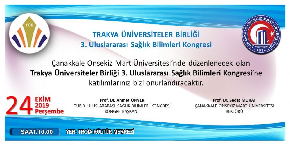 TÜB 3. Uluslararası Sağlık Bilimleri Kongresi