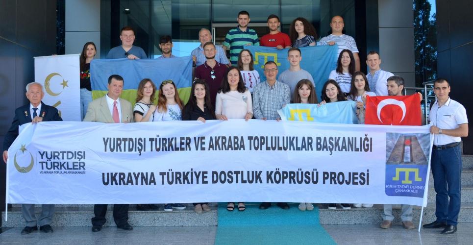Ukraynalı Öğrencilerden Rektör Yardımcısı Prof. Dr. Süha Özden'e ziyaret