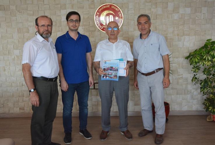 Uluslararası Öğrenci Derneği'nden Rektör Prof. Dr. Sedat Murat'a Ziyaret