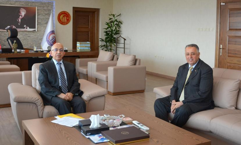 Vali Yardımcısı Celil Ateşoğlu'ndan Rektör Prof. Dr. Sedat Murat'a Ziyaret