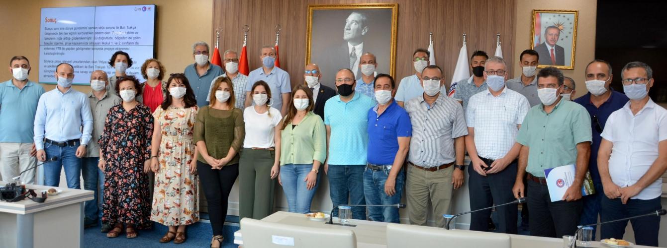 """""""Batı Trakya Bölgesi'nde Yaşayan Türk Öğrencilere Yönelik Uzaktan Öğretim Ders Destek Sistemi Projesi"""" Yıl Sonu Toplantısı Gerçekleştirildi"""