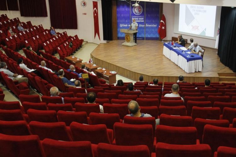 ÇOMÜ Covit-19 Komisyonu Paydaşlarıyla Toplandı