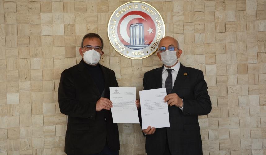 ÇOMÜ Rektörü Prof. Dr. Sedat Murat'a Teşekkür Mektubu