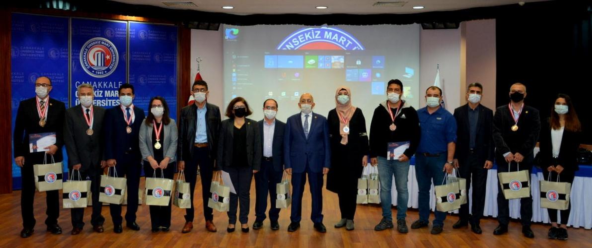 ISIF'20 Buluş Fuarında Dereceye Giren Akademisyenlerimize Madalyaları Takdim Edildi