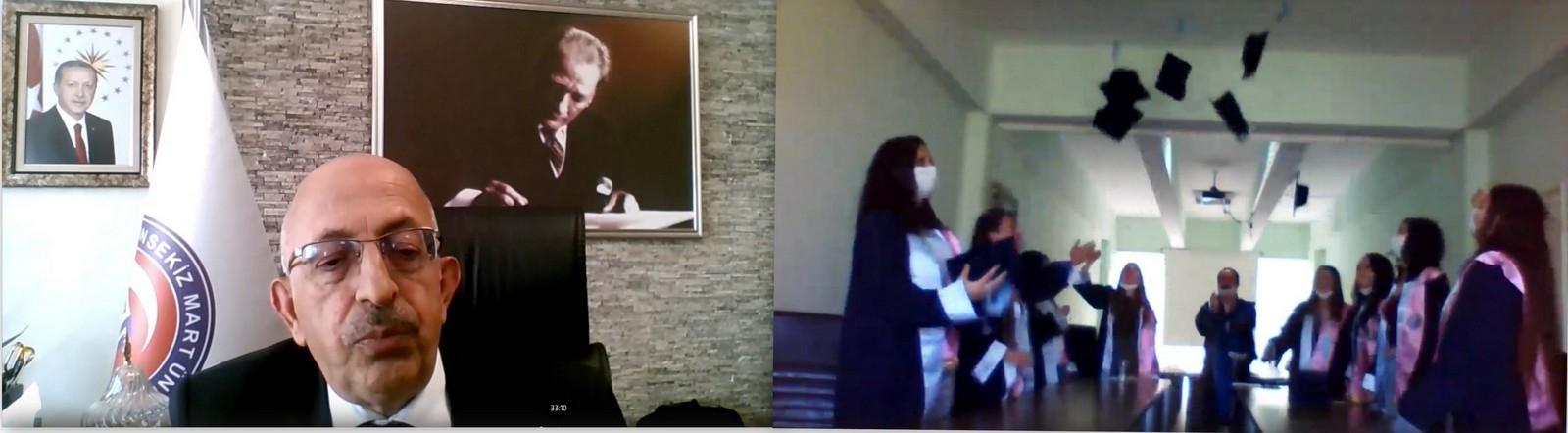 Sağlık Hizmetleri MYO Online Mezuniyet Töreni Yapıldı