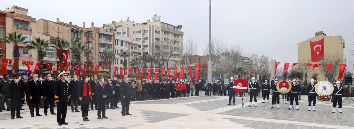 ÇOMÜ Rektörü Prof. Dr. Sedat Murat, 18 Mart Çanakkale Zaferi Törenlerine Katıldı