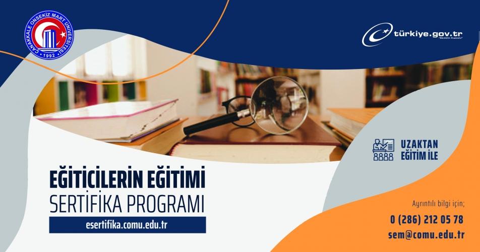 Eğiticilerin Eğitimi Sertifika Programı Başladı