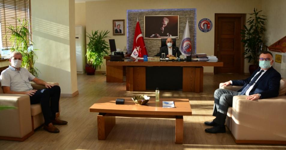 Kepez Belediye Başkanından Rektör Prof. Dr. Sedat Murat'a Ziyaret