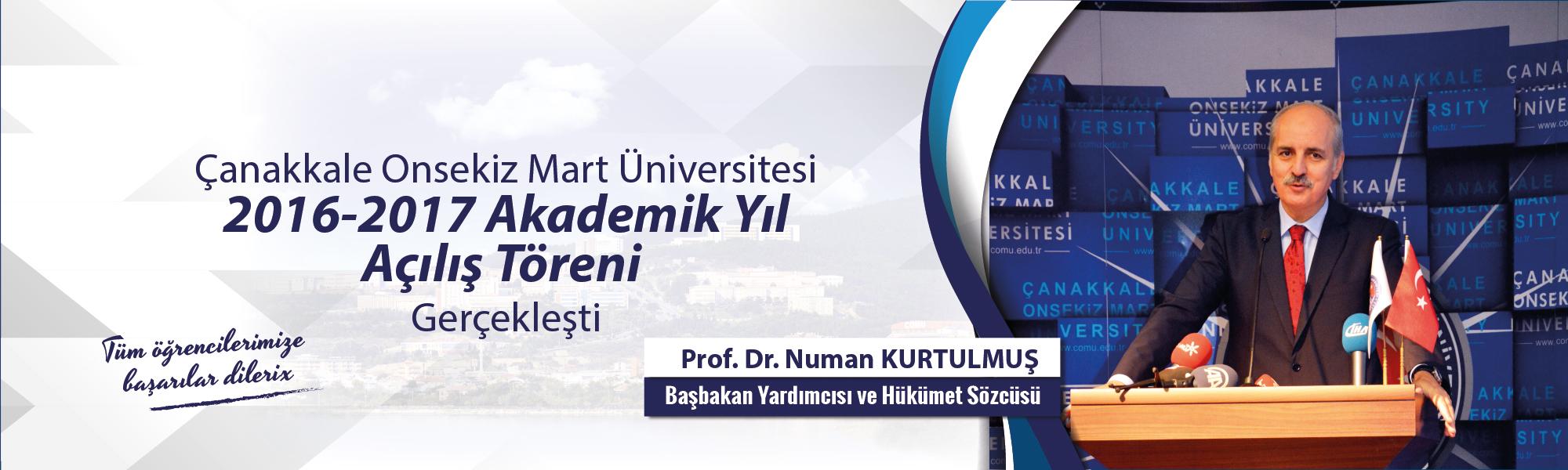 2016-2017 Akademik Açılış Yıl Töreni