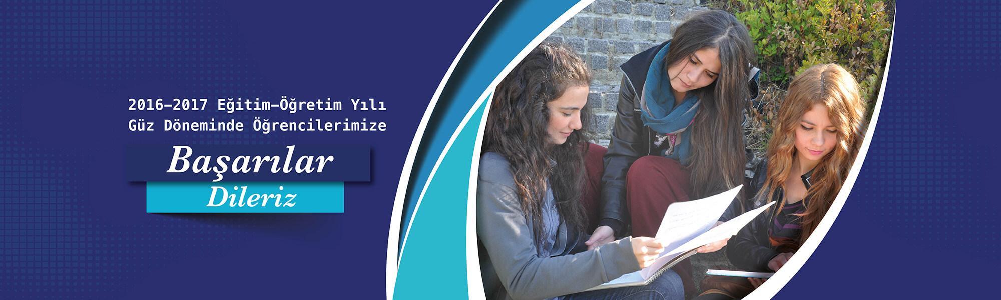2016-2017 Eğiitim Öğretim Yılında Öğrencilerimize Başarılar Dileriz