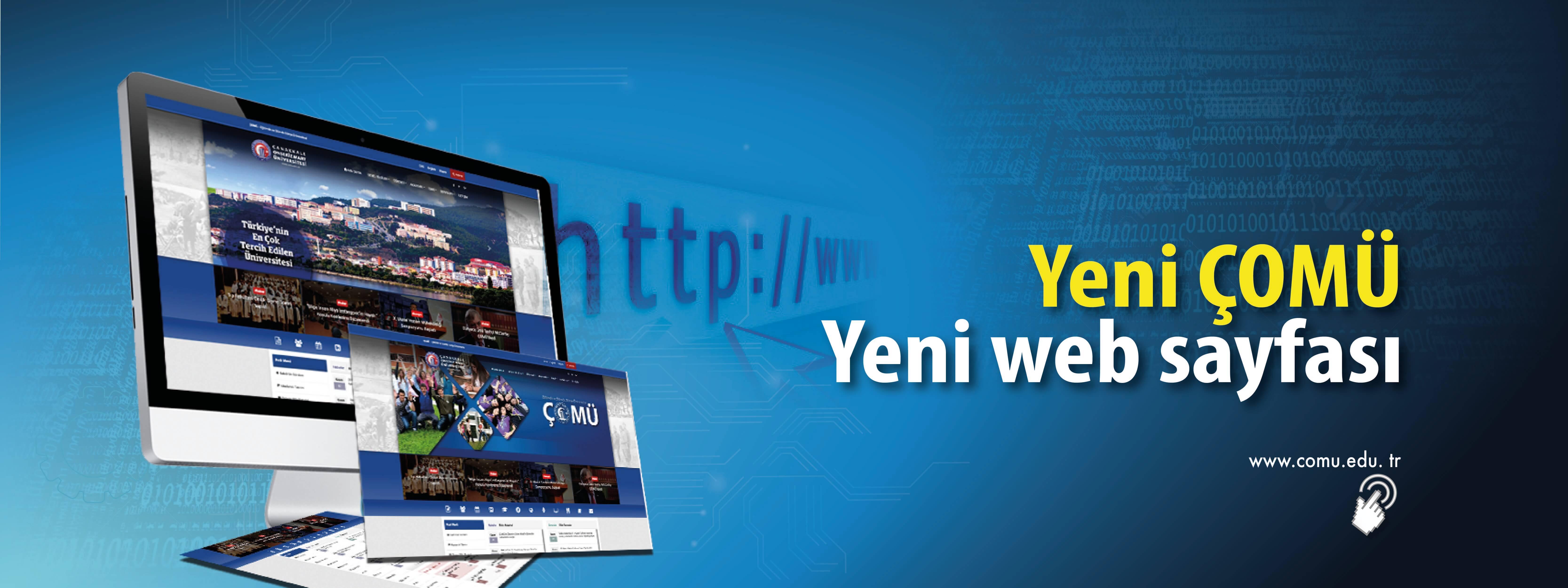 Yeni ÇOMÜ'nün Yeni Web Sayfası Yayında