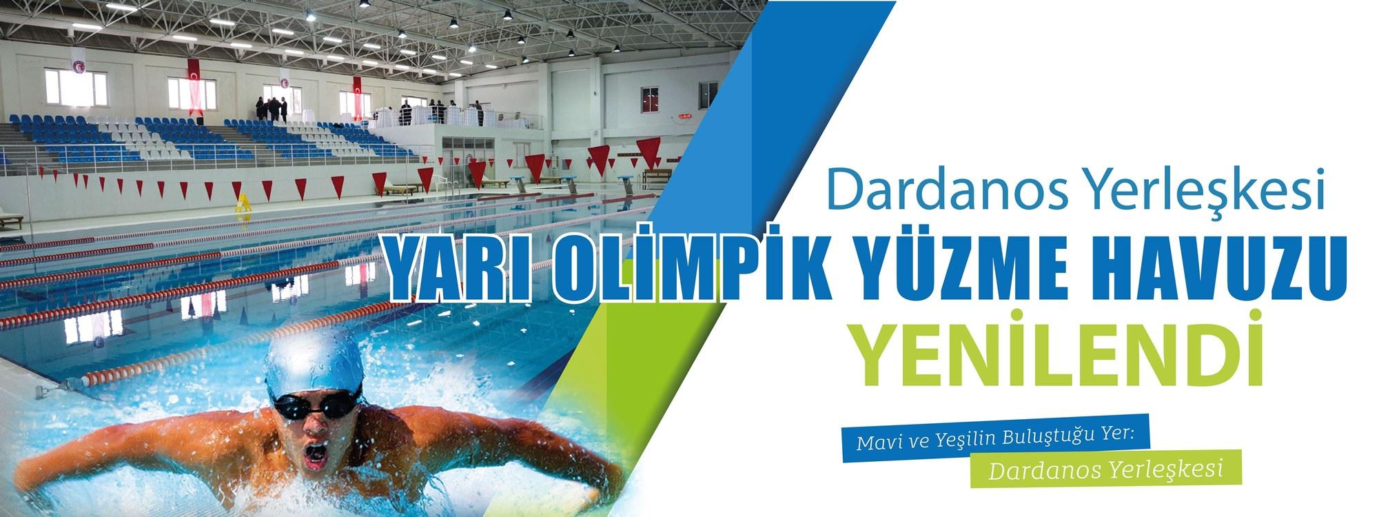 Dardanos Yerleşkesi Yarı Olimpik Yüzme Havuzu Yenilendi