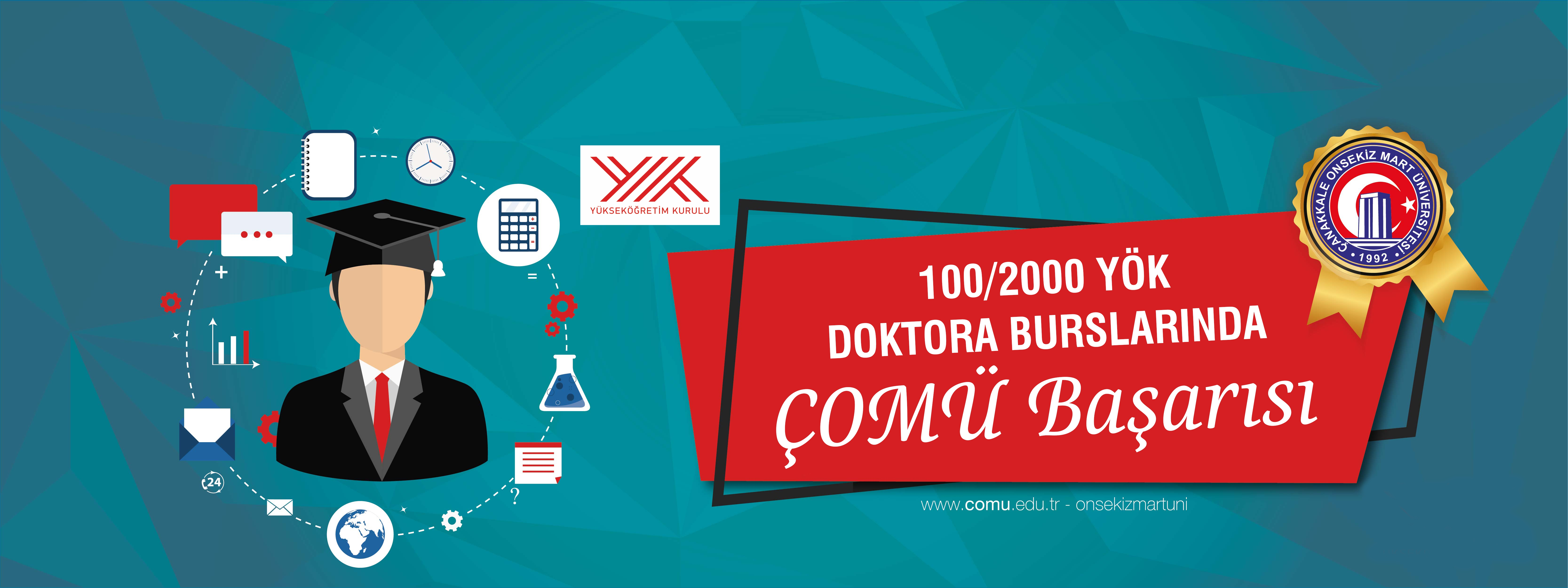 100/2000 YÖK Doktora Burslarında ÇOMÜ Başarısı
