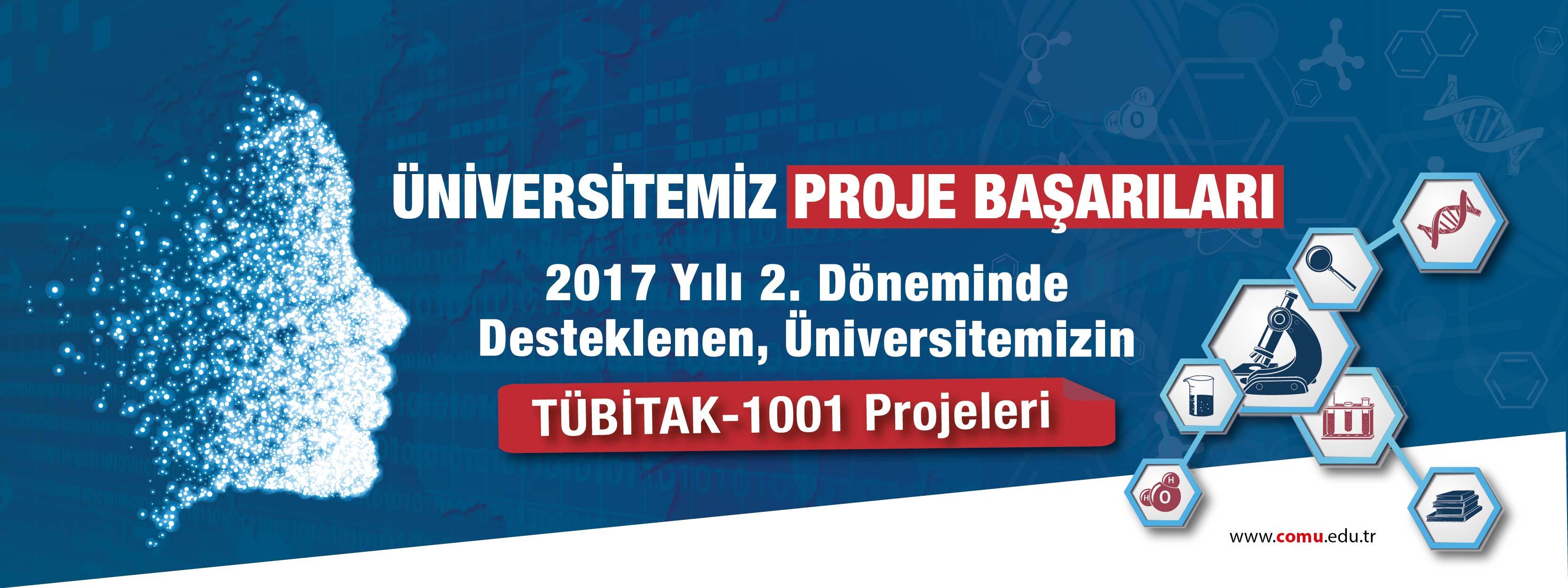 2017 Yılı 2. Döneminde Desteklenen, Üniversitemizin TÜBİTAK-1001 Projeleri