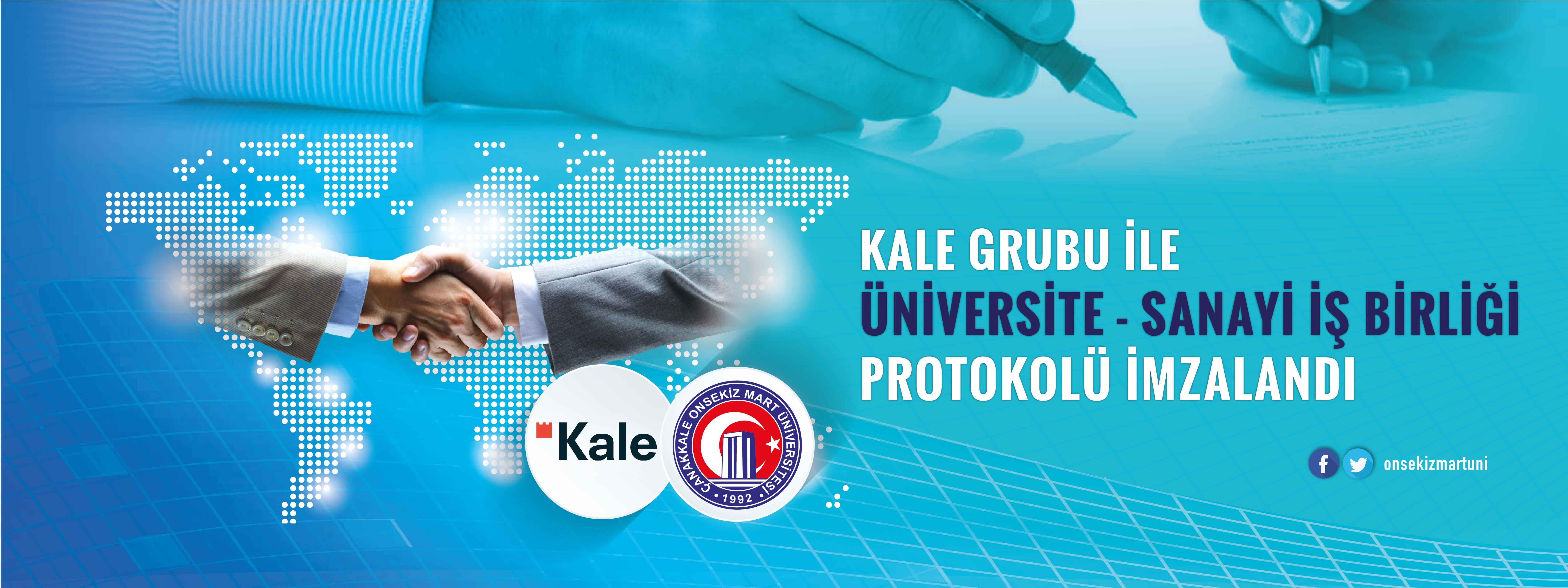 Kale Grubu İle Üniversite-Sanayi İş Birliği Protokolü İmzalandı