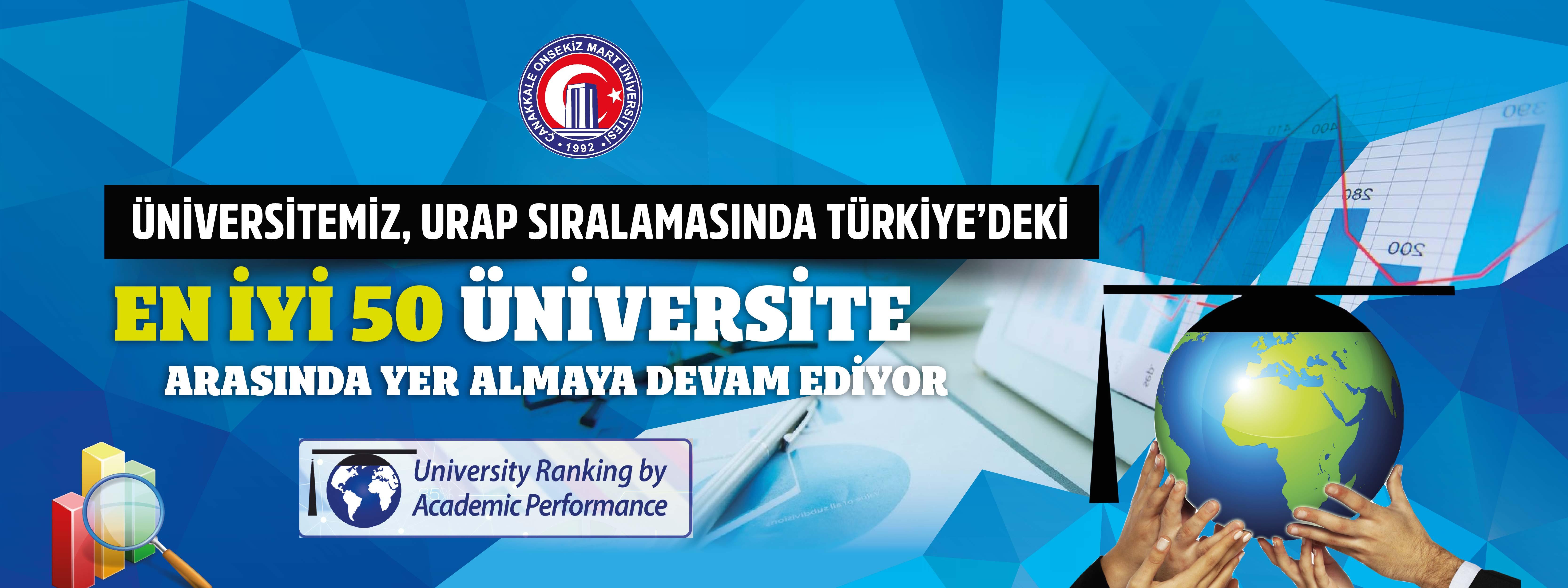 Üniversitemiz, URAP Sıralamasında Türkiye'deki En İyi 50 Üniversite Arasında Yer Almaya Devam Ediyor