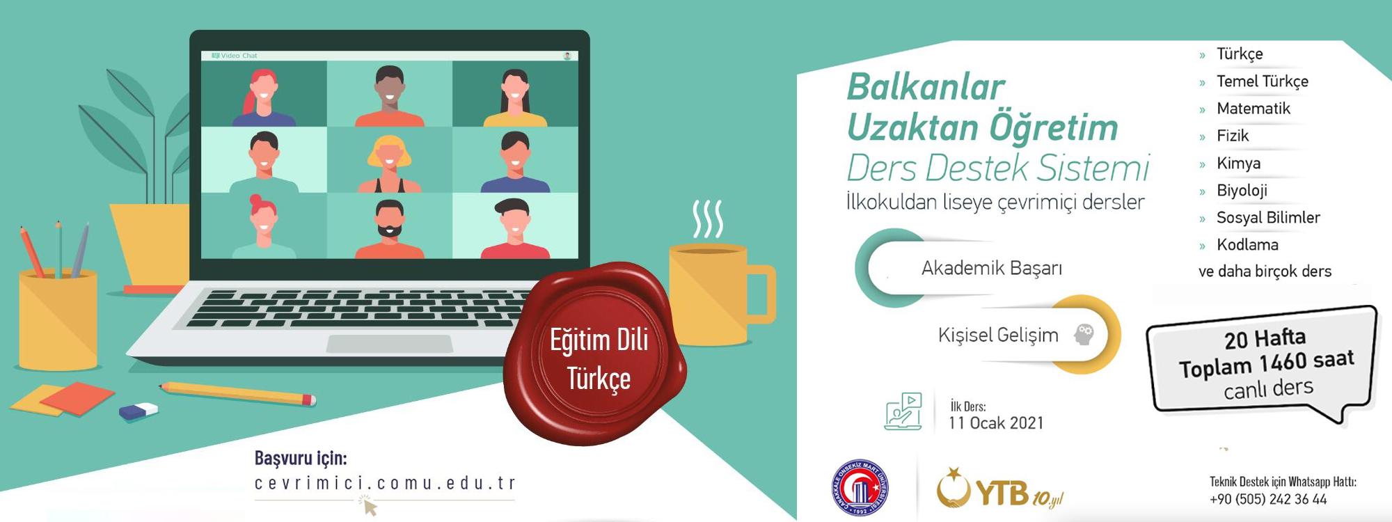 Balkanlar Uzaktan Öğretim Ders Destek Sistemi